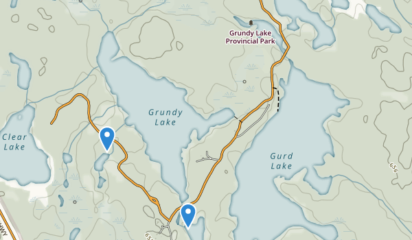 Grundy Lake Provincial Park Map