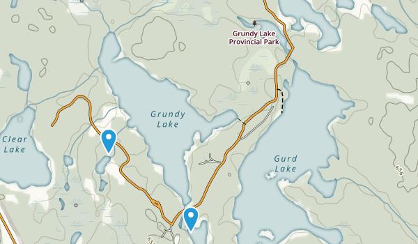Grundy Lake Provincial Park Map