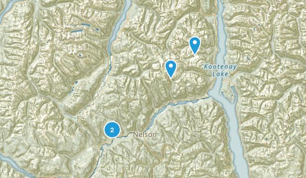 Kokanee Glacier Park Map