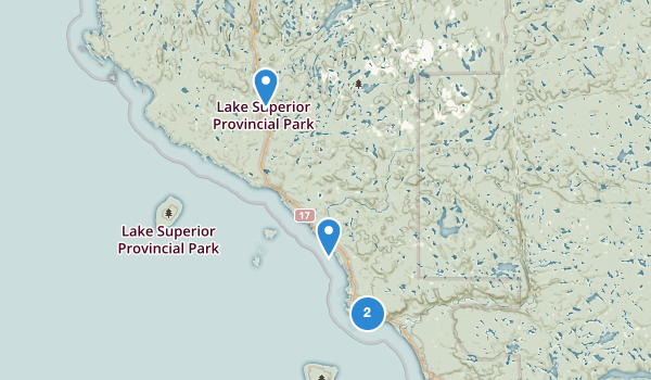 trail locations for Lake Superior Provincial Park