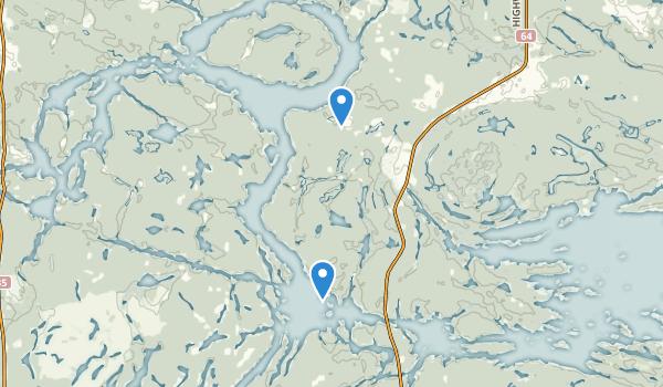 trail locations for Mashkinonje Provincial Park