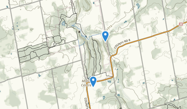trail locations for Mono Cliffs Provincial Park