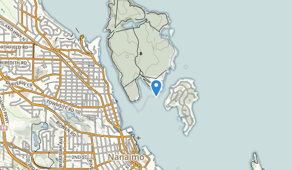 trail locations for Newcastle Island Marine Park
