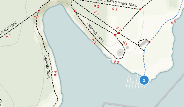Newcastle Island Marine Park Map