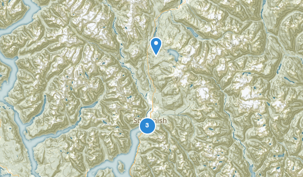 trail locations for Shannon Falls Park
