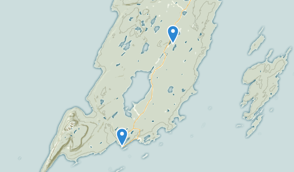 trail locations for Sleeping Giant Provincial Park