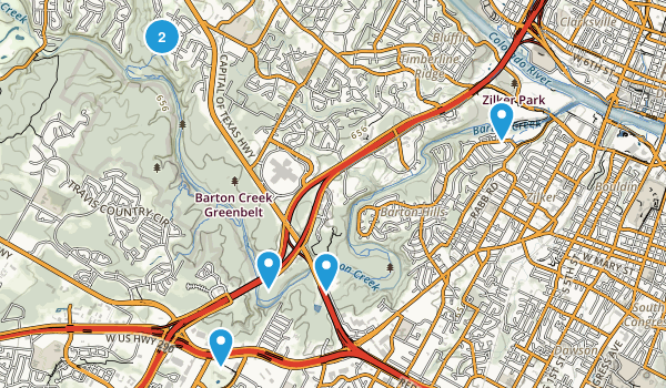 Barton Creek Greenbelt Map