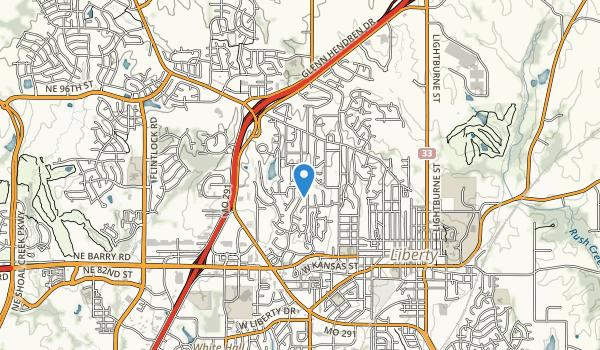 trail locations for Bennett Park