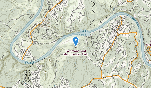 trail locations for Commons Ford Metropolitan Park