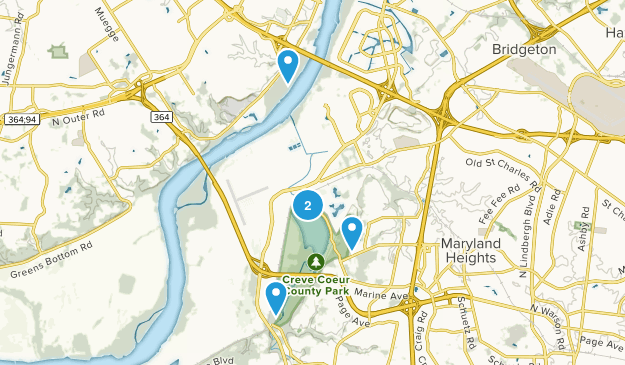 Creve Coeur County Park Map