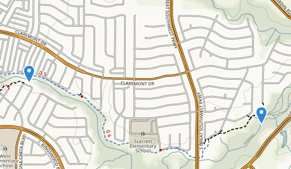 Fish Creek Linear Park Map