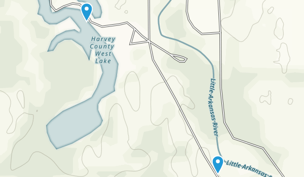 Harvey County Park Map