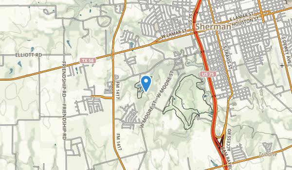trail locations for Herman Baker Park