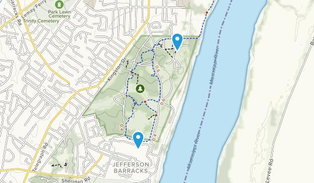 Jefferson Barracks Park Map
