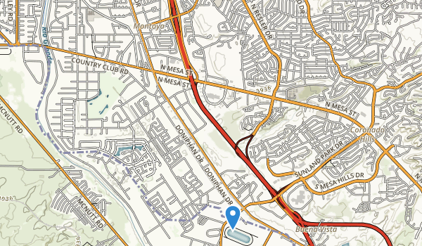 trail locations for L.B.J. Park