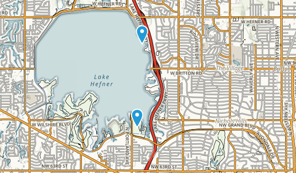 Lake Hefner Park Map