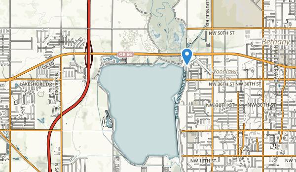 trail locations for Lake Overholser Park