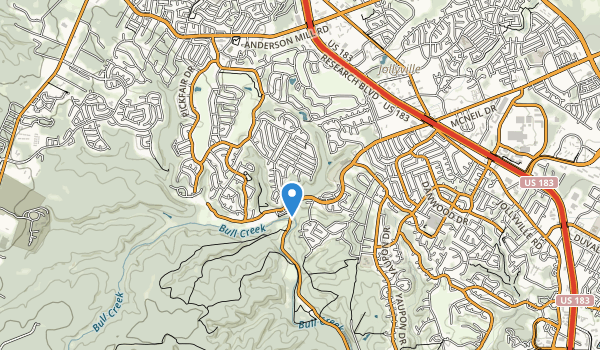 trail locations for Mountain View Park