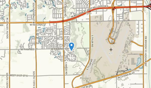 trail locations for Pawnee Prairie Park