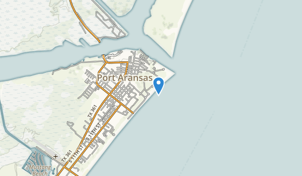 trail locations for Port Aransas Park