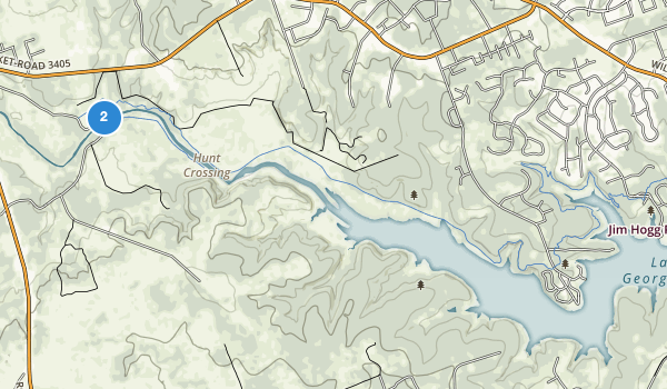 trail locations for Russell Park