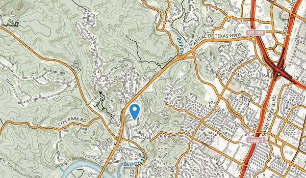 trail locations for Upper Bull Creek Park