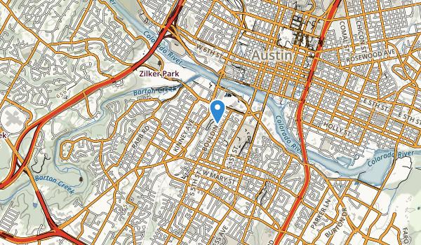 West Bouldin Creek Greenbelt Map