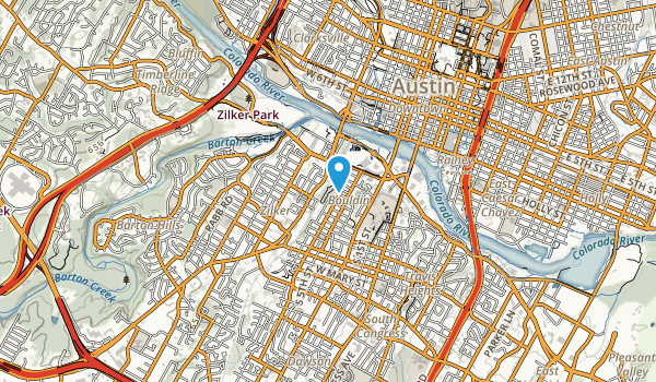 West Bouldin Creek Greenbelt Map