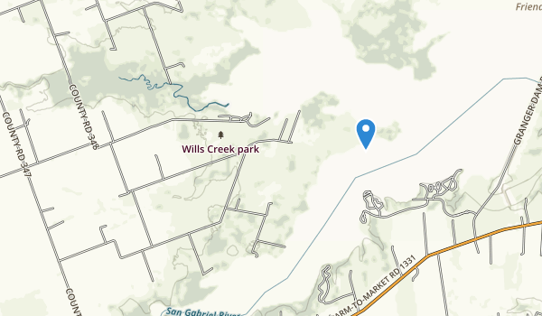 trail locations for Wills Creek Park