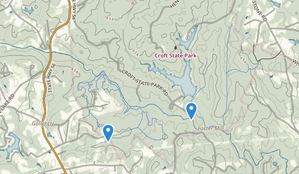 trail locations for Croft State Park
