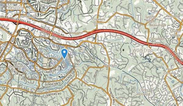 Difficult Run Stream Val Park Map