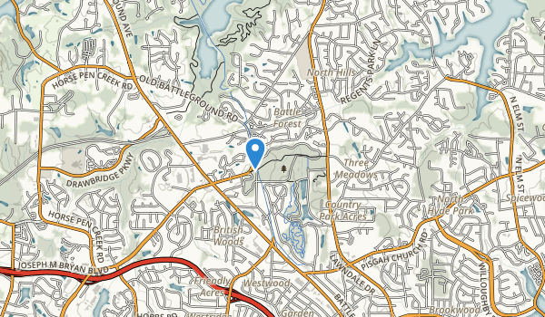trail locations for Guilford Courthouse Nmp