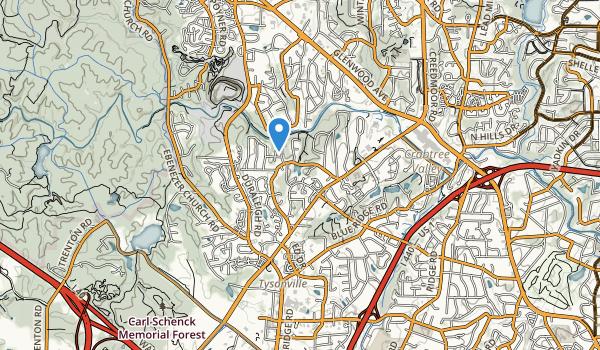 trail locations for Laurel Hills Park