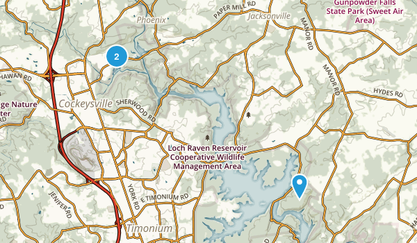 Loch Raven Park Map