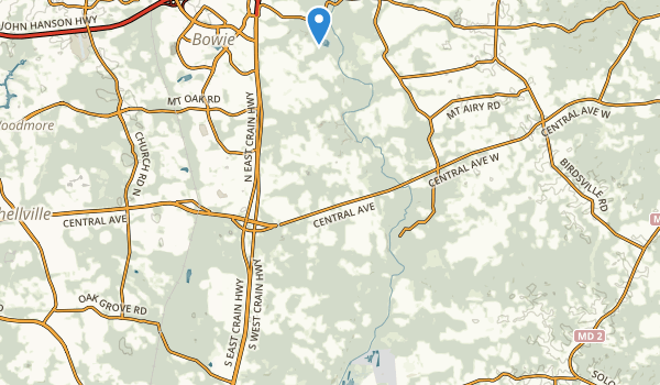 trail locations for Patuxent River Park