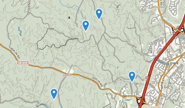 trail locations for Prince William Nat Forest Park