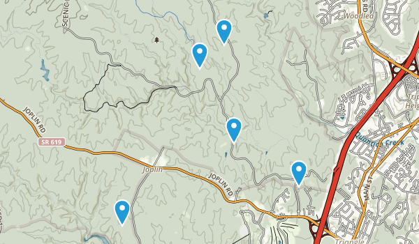 Prince William Nat Forest Park Map