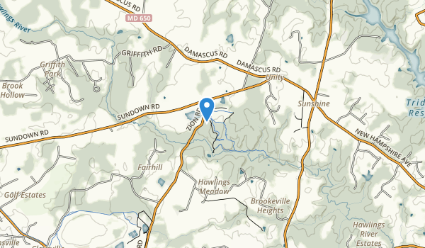 trail locations for Rachel Carson Conserv Park