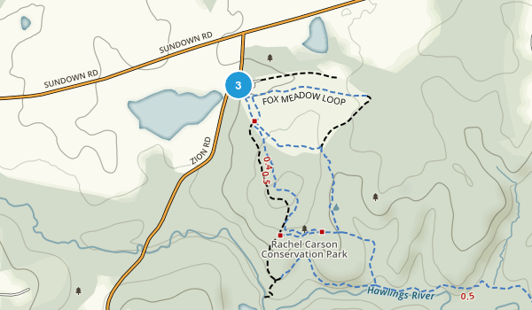 Rachel Carson Conserv Park Map