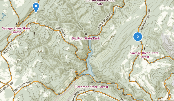 Savage River State Forest Map