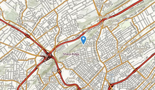 trail locations for Sharps Ridge Memorial Park
