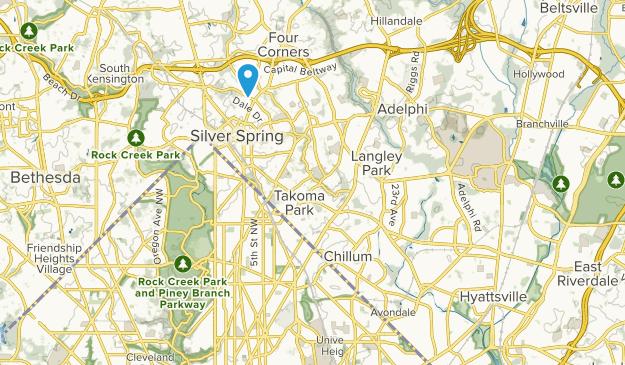 Sligo Creek Park Map
