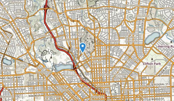 trail locations for Wyman Park