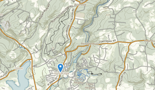 trail locations for Ken Lockwood Gorge Wma