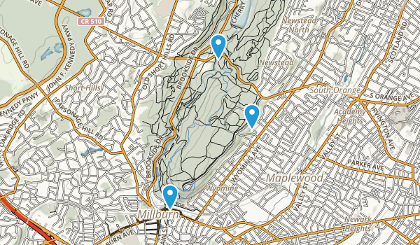 Best Trails In South Mountain Reservation New Jersey - South jersey map