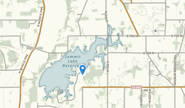 trail locations for Summit Lake State Park