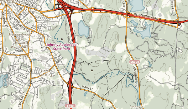 trail locations for Lancaster State Park