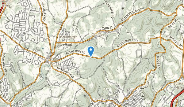 trail locations for Bushy Run Battlefield State Park