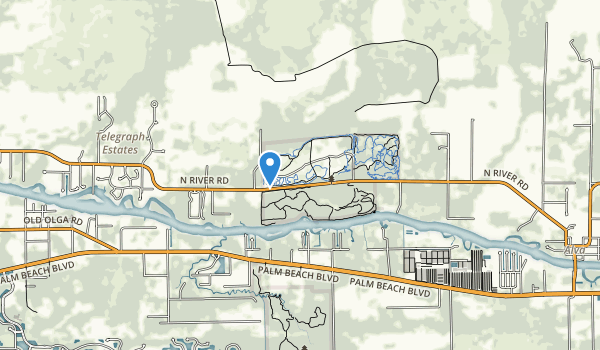 trail locations for Caloosahatchee River State Park