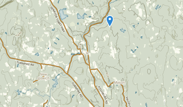 trail locations for Marshall State Forest